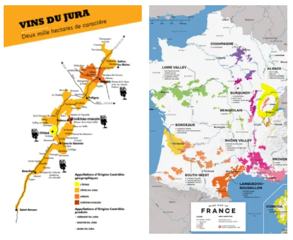Cartes vinicoles du Jura