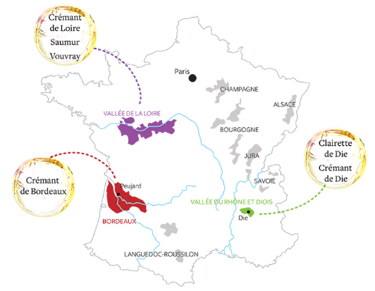 Carte viticole de la maison Jaillance