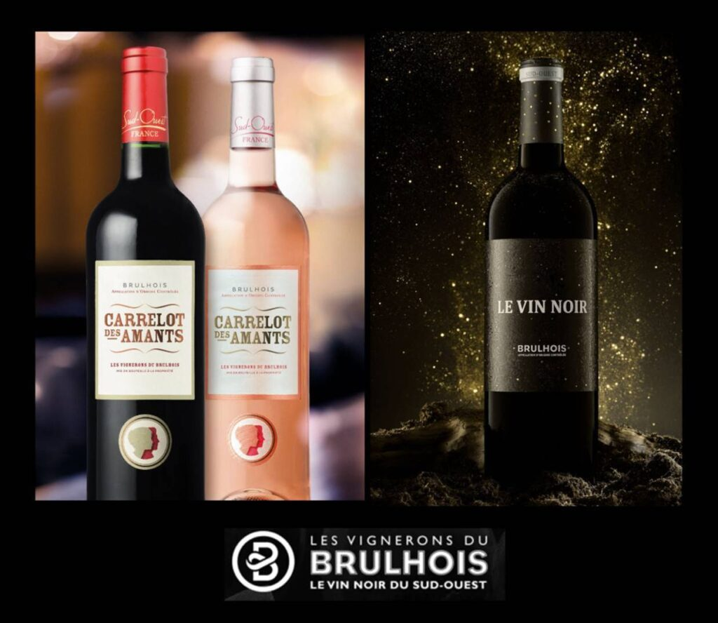 3 bouteilles de Vins dégustés des Vignerons du Brulhois