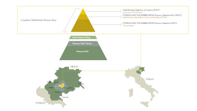 Carte des appellations Prosecco