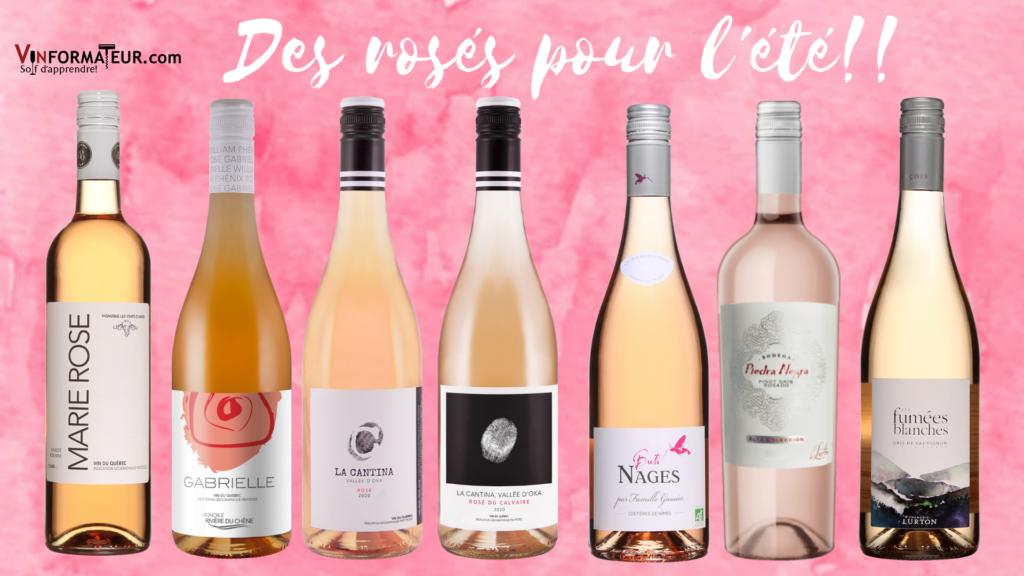 7 vins rosés du Québec de France et d'Argentine