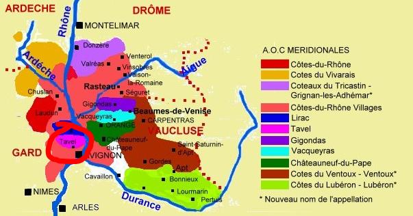 Carte viticole - Tavel
