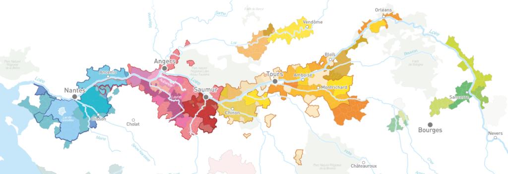 Carte viticole du Val de Loire