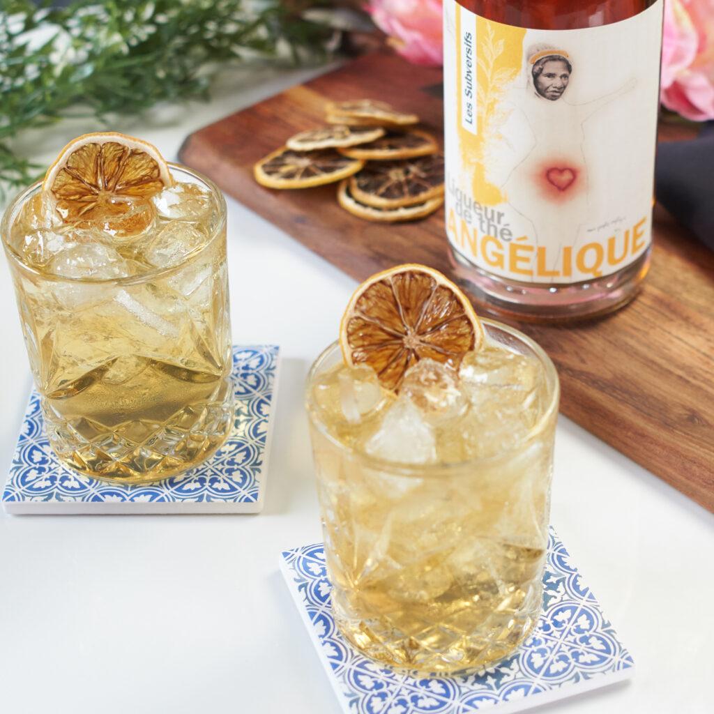 Cocktail Arnold Palmer avec liqueur de thé Angélique