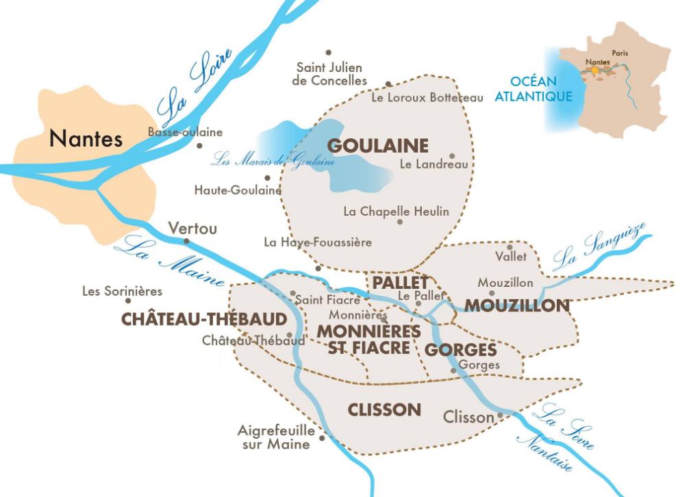 Carte viticole de Goulaine