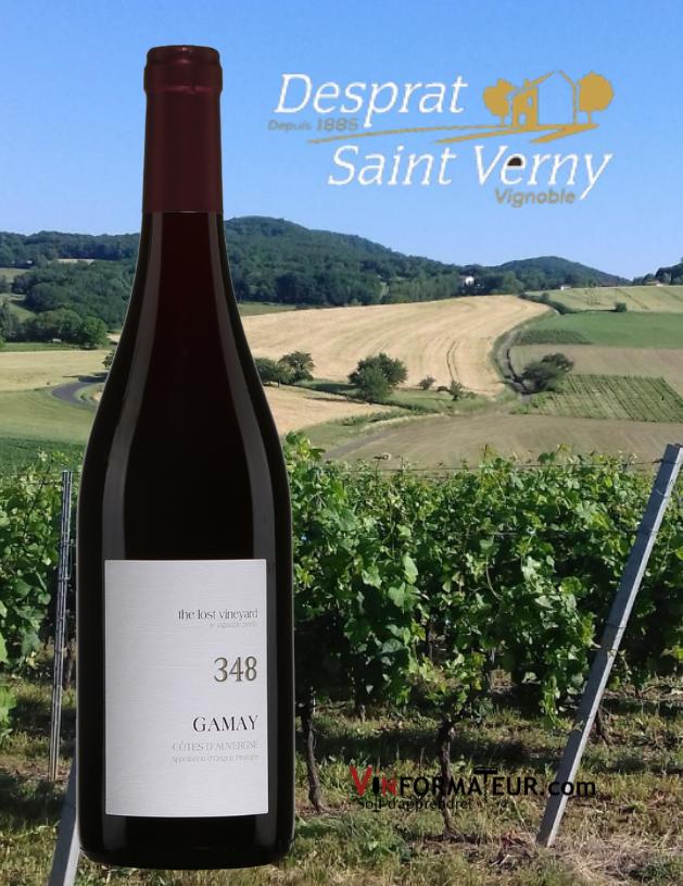 Gamay 348, de la Gamme ''Lost Vineyard'', France, Val de Loire, AOC Côtes d'Auvergne, Desprat Saint Verny, 21,60$, 2018