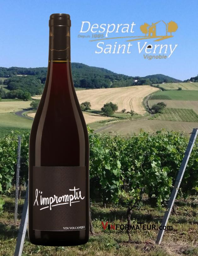 L'Impromptu, France, Val de Loire, AOC Côtes d'Auvergne, Desprat Saint Verny, cépage : Gamay 100%, 19,60$, 2018