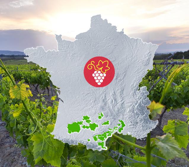 Vignobles d'Occitanie - carte viticole