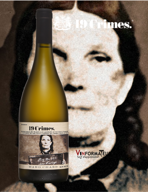 19 Crimes Hard Chardonnay, Australie, South Eastern, vin blanc, 2020