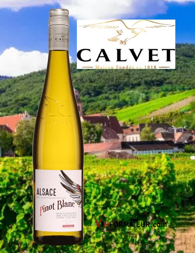 Pinot blanc, France, Alsace, Calvet, 2019