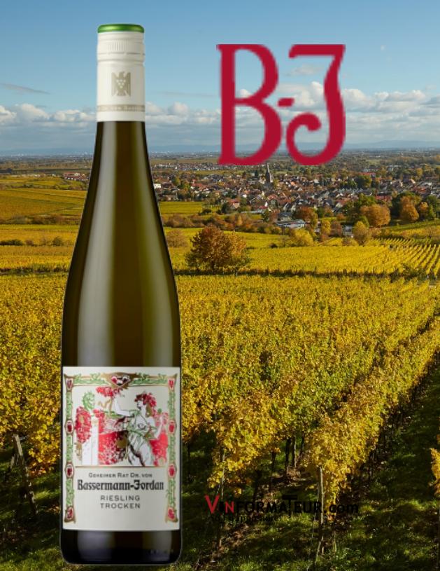 Basserman-Jordan, Riesling, Trocken, Allemagne, Pfalz, VDP Gutswein, 2019