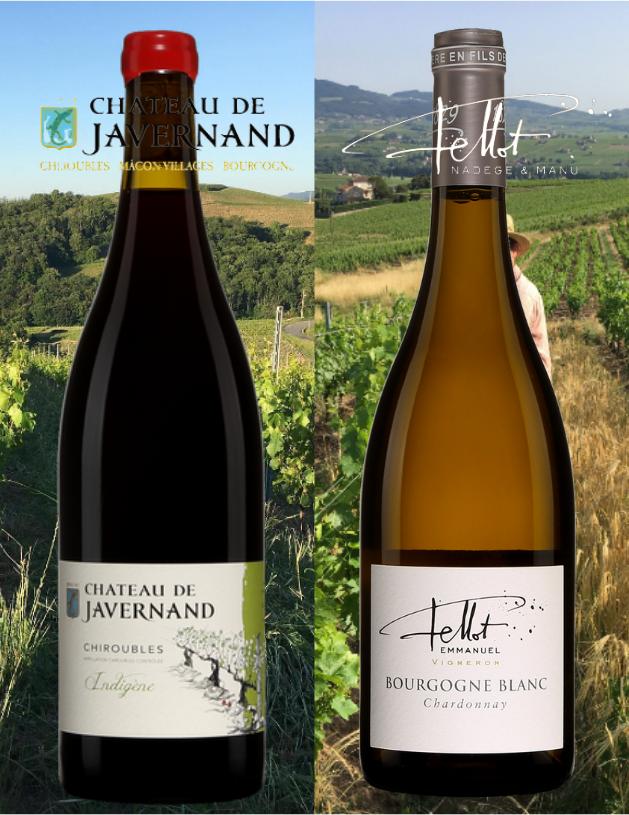 Château de Javernand, Chiroubles 2018 et Bourgogne blanc Emmanuel Fellot 2018