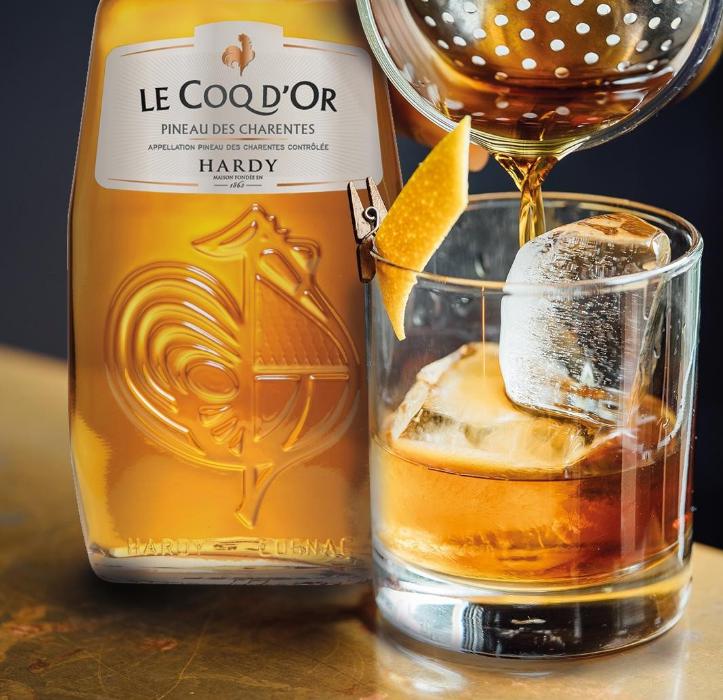 Drink à base de Pineau des Charentes Le Coq d'Or