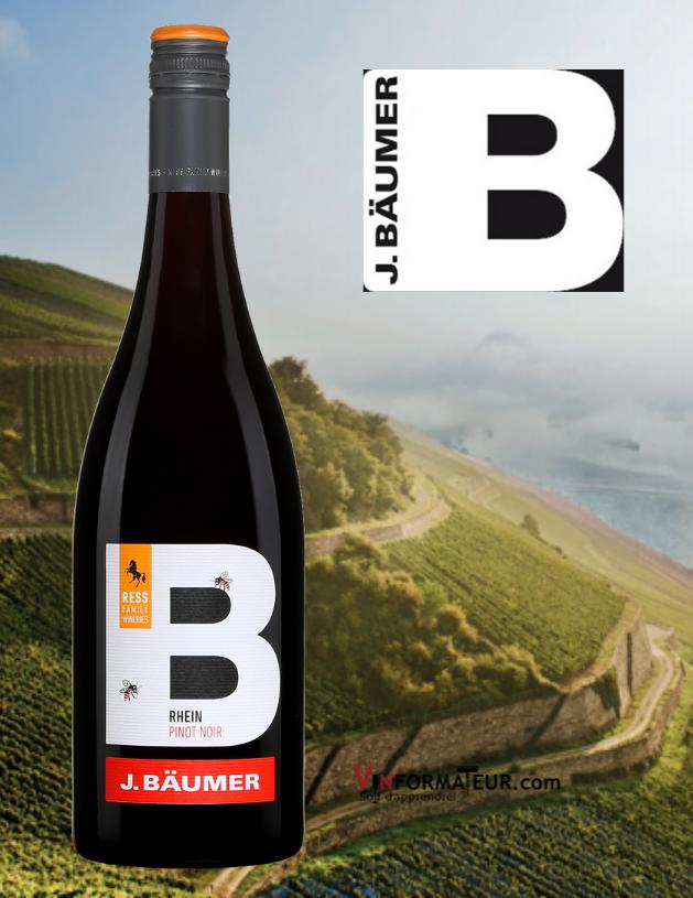 J.Bäumer, Pinot Noir, Allemagne, Rheingau, Landwein, 2020