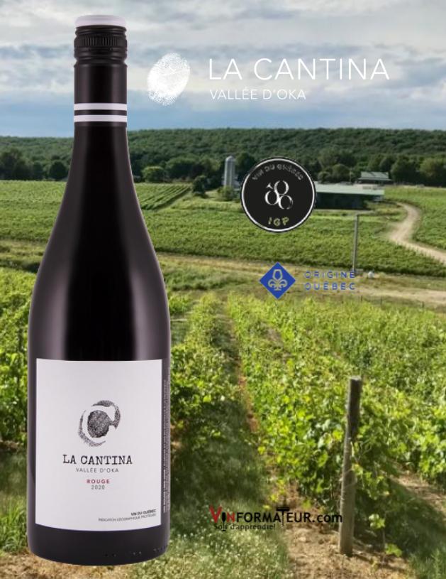 Le Cantina rouge, Québec IGP, Basses Laurentides, Vallée d'Oka, vin rouge, Origine Québec, 2020