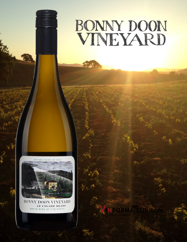 Le Cigare Blanc, Bonny Doon Vineyard, Californie, Central Coast, Randall Grahm, vin blanc bio, 2019