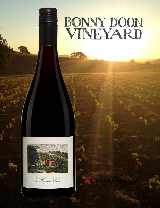 Le Cigare Volant, Bonny Doon Vineyards, Cuvée Oumuamua, Californie, Central Coast, Randall Grahm, vin rouge bio, 2018