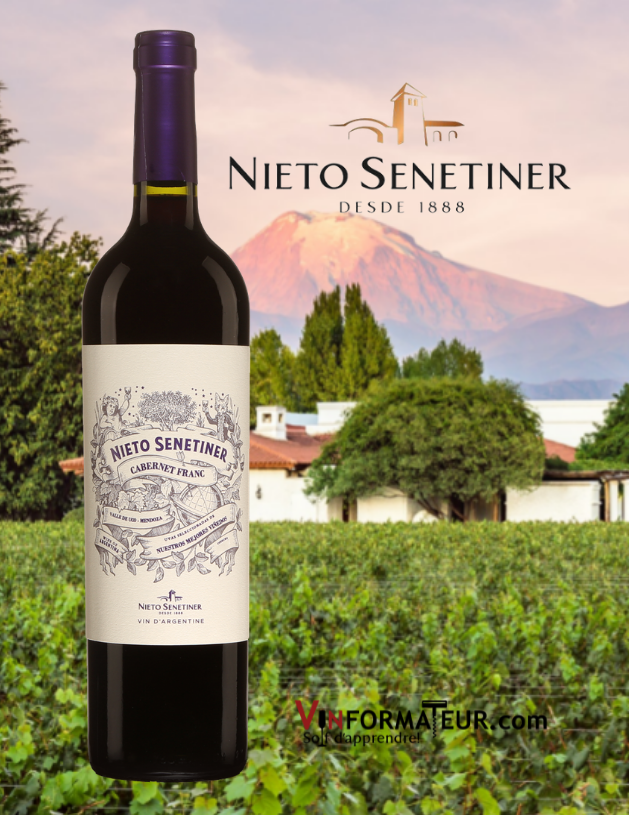 Bouteille de Cabernet franc, Nieto Senetiner, Argentine, Mendoza, Valle de Uco, 2019