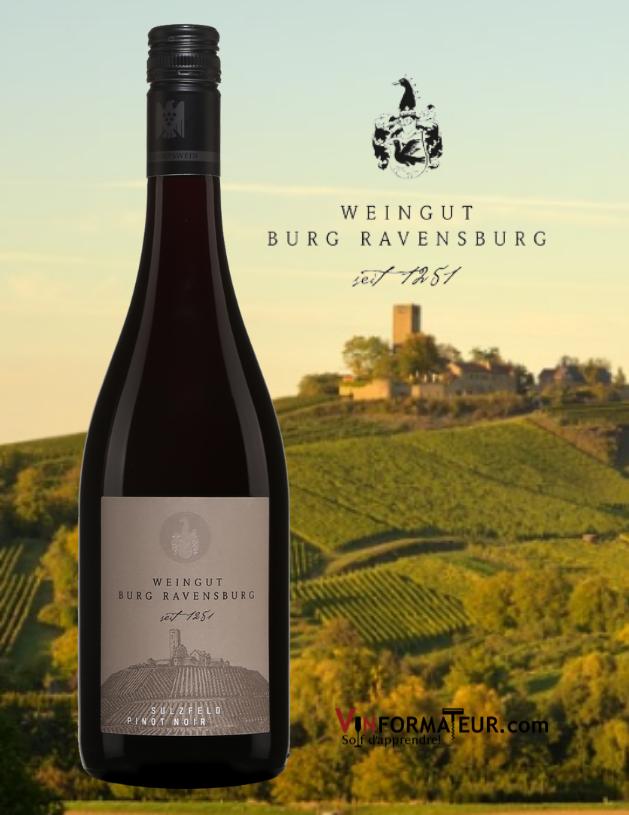 Burg Ravenburg, Pinot Noir, Sulzfeld, Allemagne, Baden, VDP Ortswein, 2017