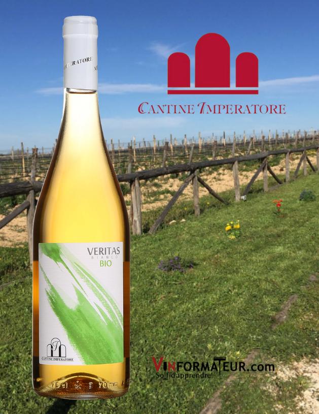 Bouteille de Veritas, Bianco, Cantine Imperatore, Italie, Les Pouilles, 2019 avec vignobles