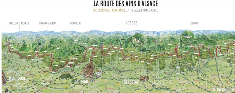 Carte viticole d'Alsace