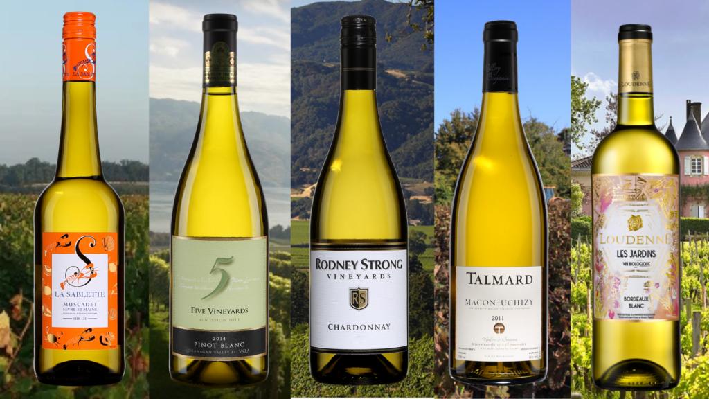 5 vins blancs