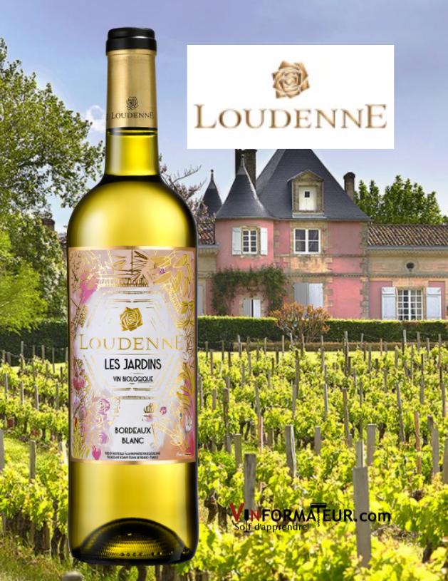 Loudenne, Les Jardins, France, Bordeaux, vin blanc bio, 2019