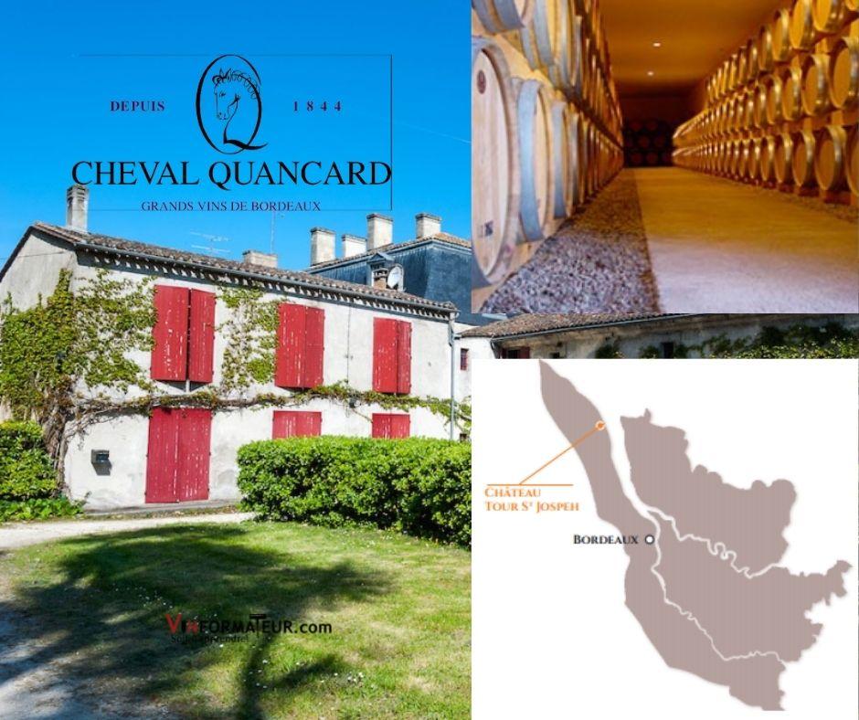 Cheval Quancard, chai et carte viticole