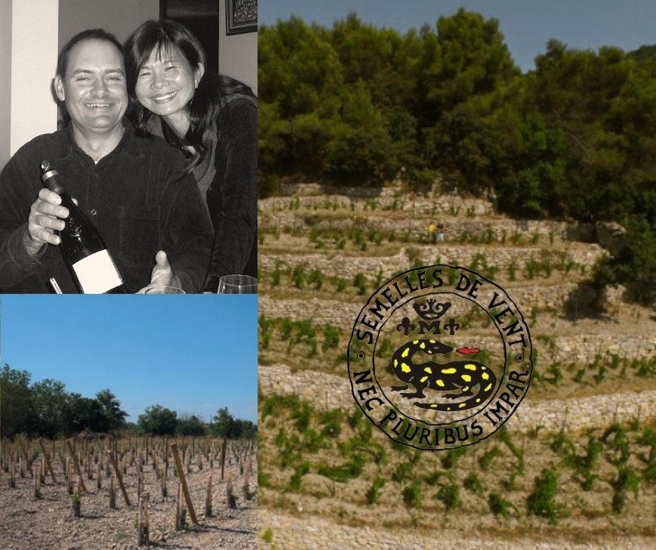 Domaine Les Semelles de Vent, Christophe et Yu Yen, vignobles