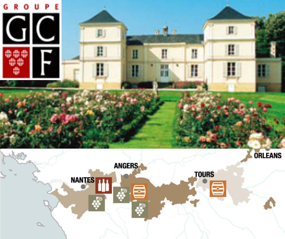 Les Grands Chais de France avec chai et carte viticole