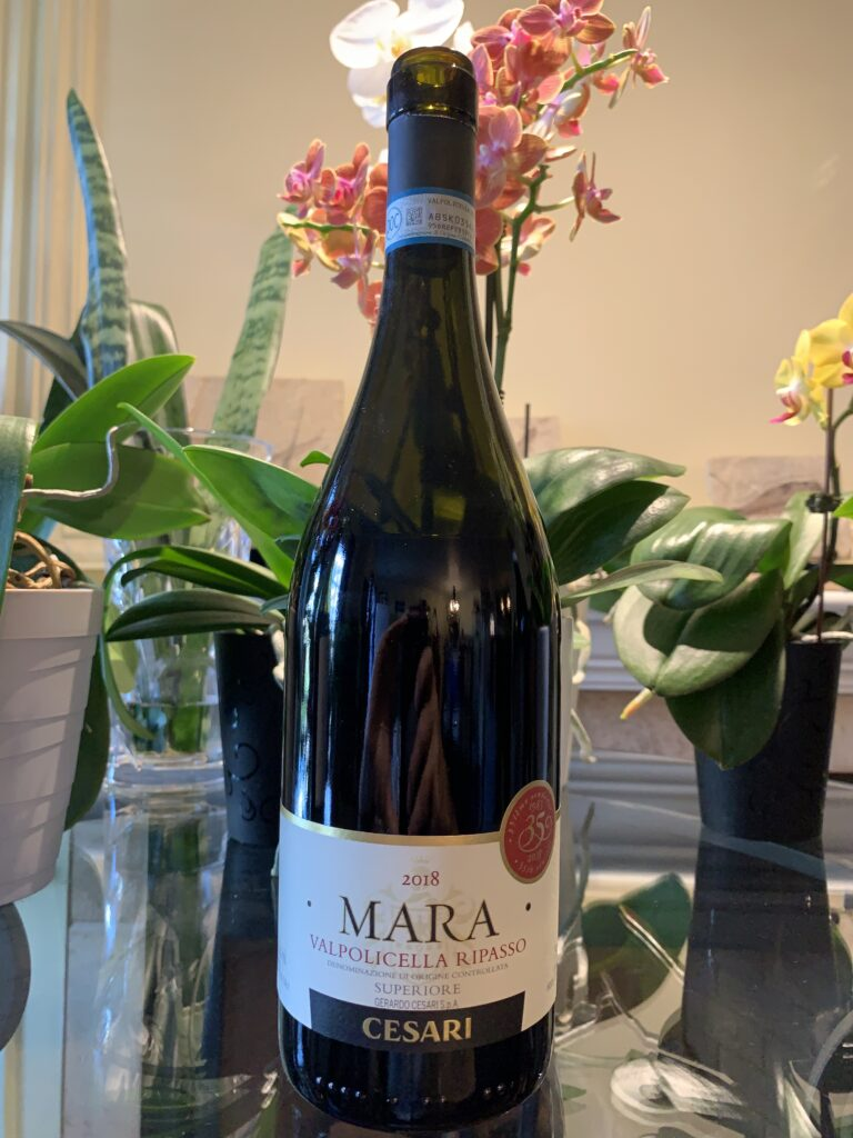 Bouteille de Mara, Italie, Vénétie, Valpolicella Ripasso Superiore DOC, Gerardo Cesari, vin rouge, 2018