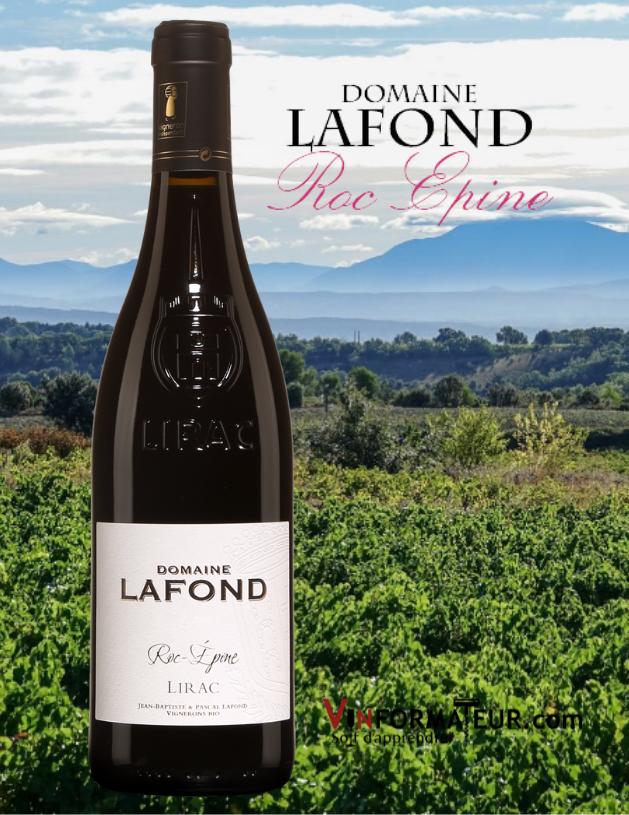 Domaine Lafond, Roc-Épine, France, Vallée du Rhône, Lirac, vin rouge bio, 2019