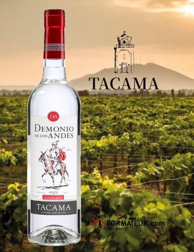 Pisco (eau de vie de fruit), Demonio de los Andes, Perou, Vina Tacama