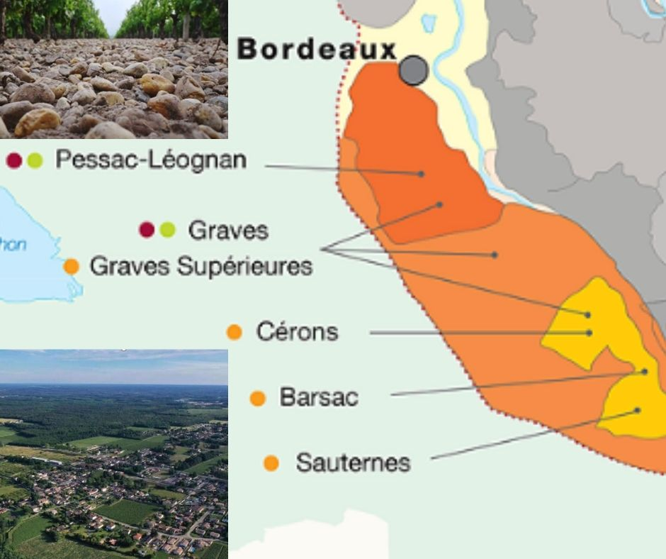 Carte viticole Graves et vignobles