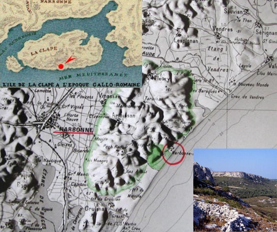 Appellation La Clape, cartes et paysages