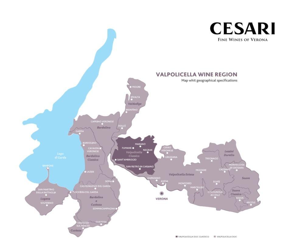 Carte viticole Valpolicella