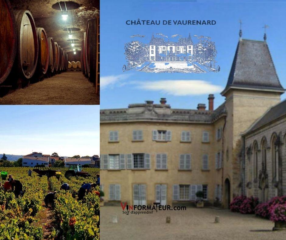 Château de Vaurenard, chai et vignobles