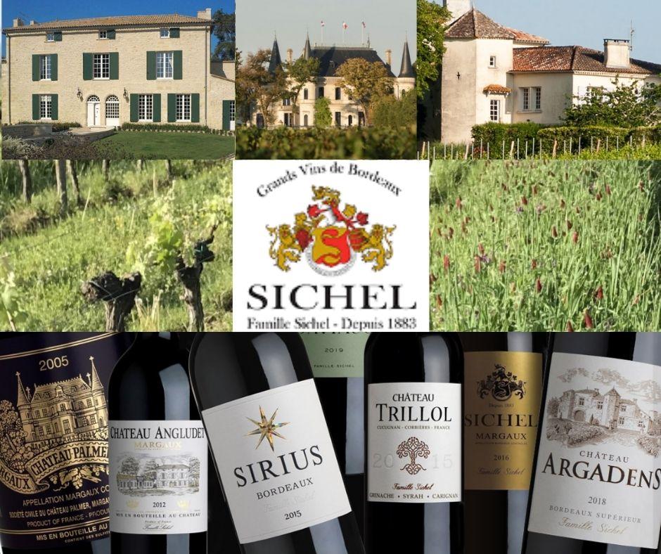 Maison Sichel, propriétés et marques de vins