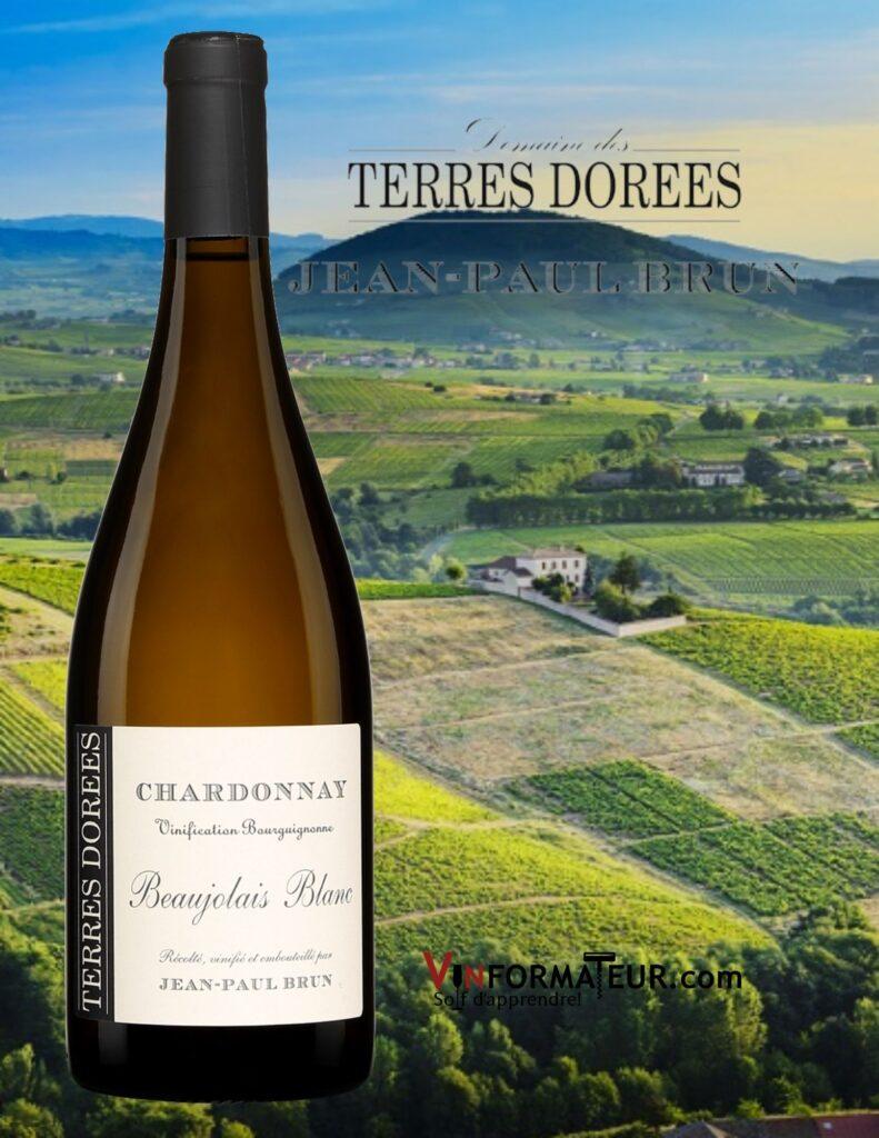 Bouteille de Jean-Paul Brun, Beaujolais blanc, Chardonnay, 2019 avec vignobles