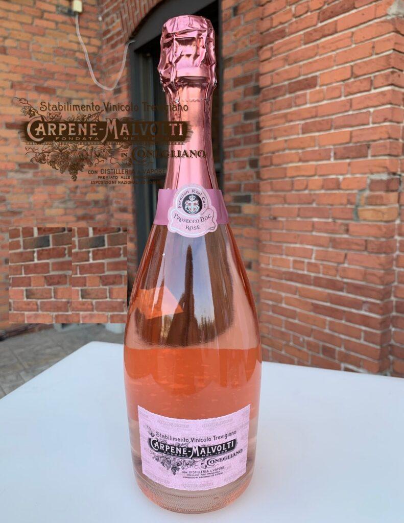 Bouteille de Carpenè Malvolti, Prosecco DOC rosé, Brut, Millesimato, Italie, Vénétie, 2020