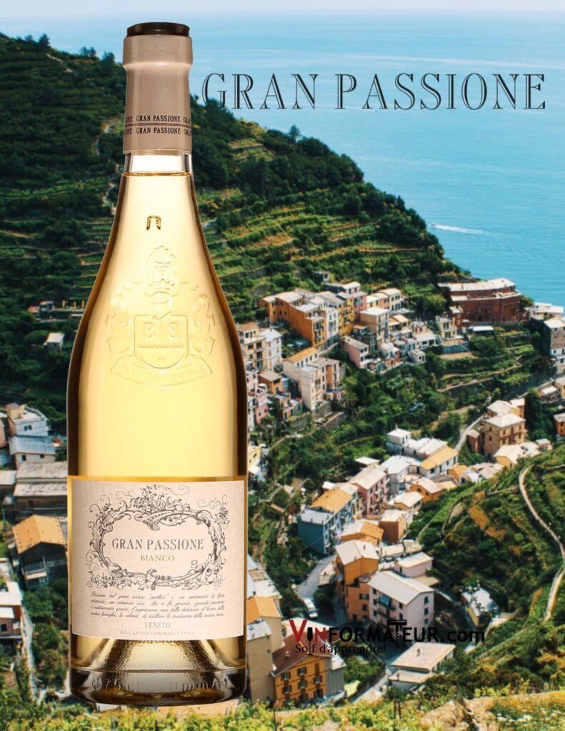Bouteille de Gran Passione, Bianco, Veneto, Casa Vinicola Botter, 2020 avec vignobles