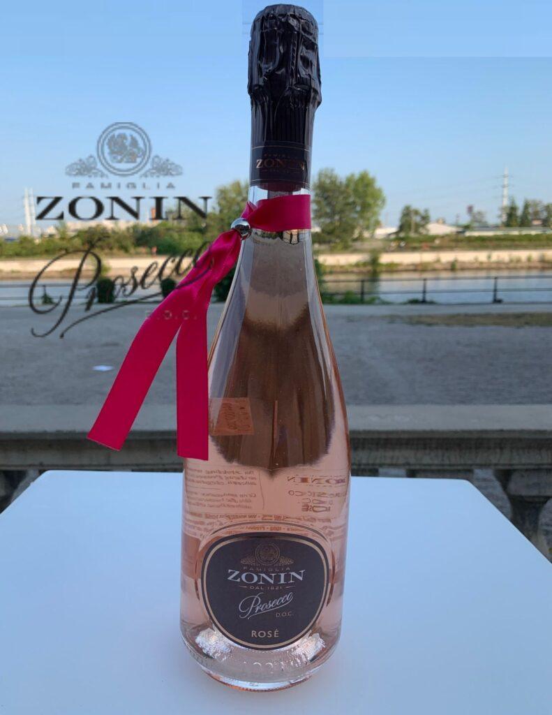 Bouteille de Zonin, Prosecco DOC rosé, Brut, Millesimato, Italie, Vénétie, 2020