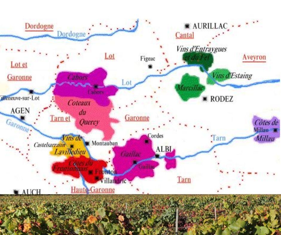 Carte viticole Cahors