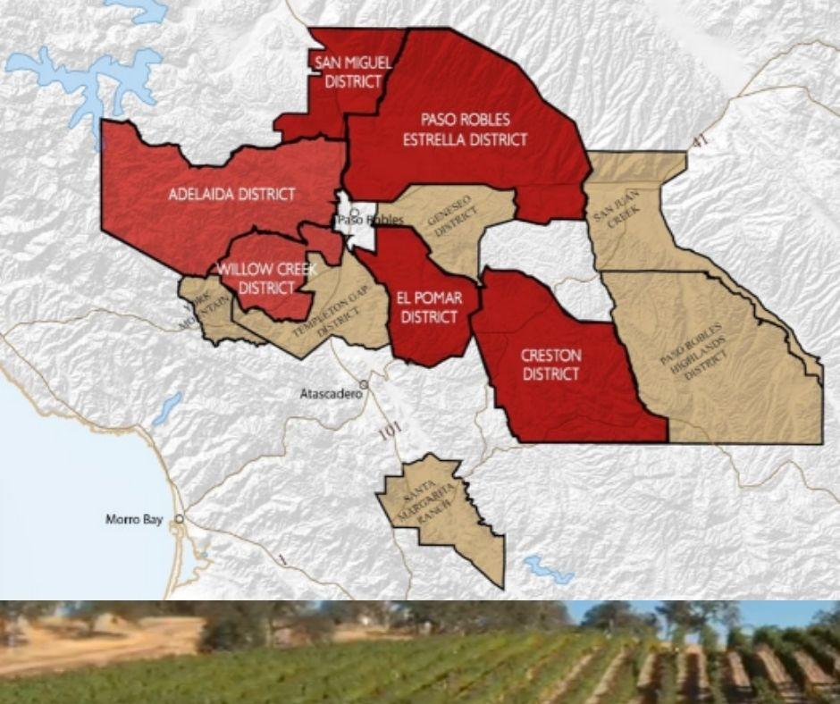 Carte viticole Paso Robles