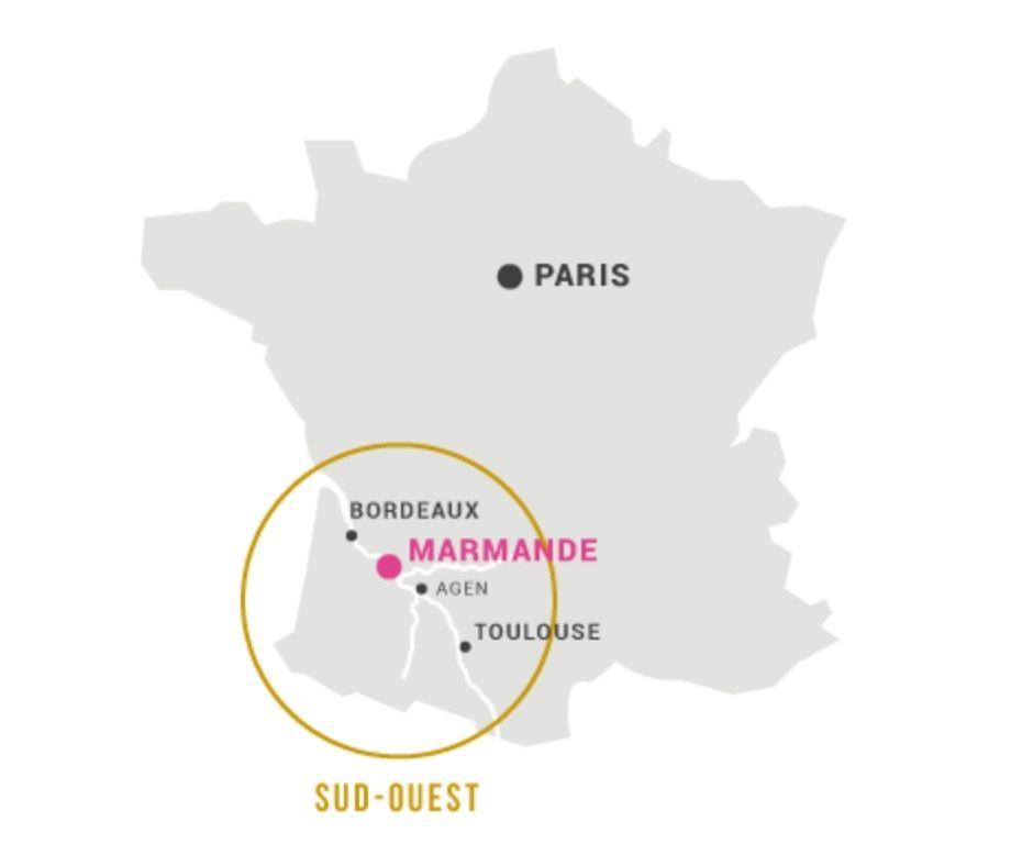 Carte viticole Sud-Ouest, Marmande