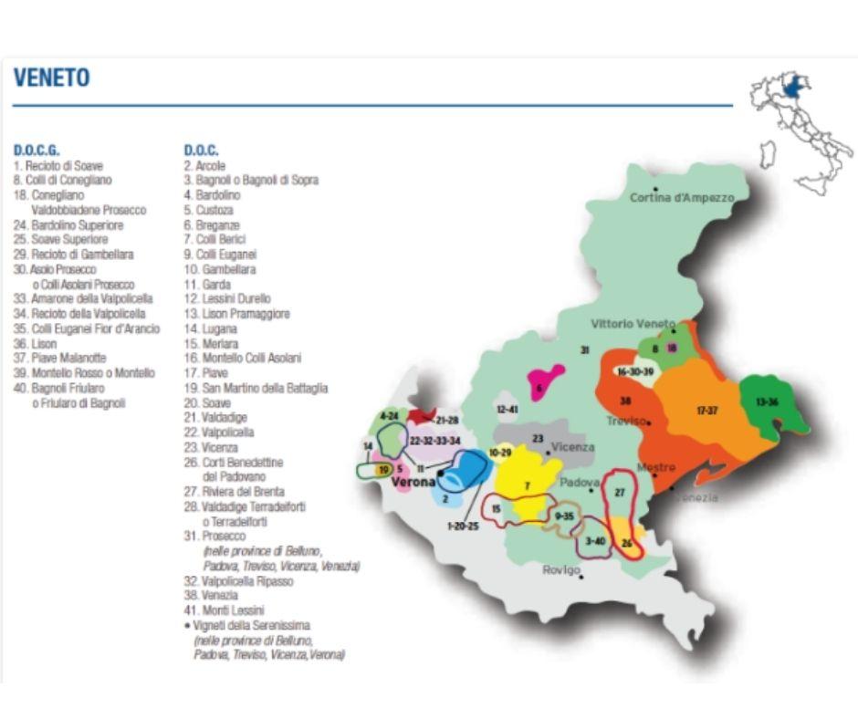 Carte viticole Veneto