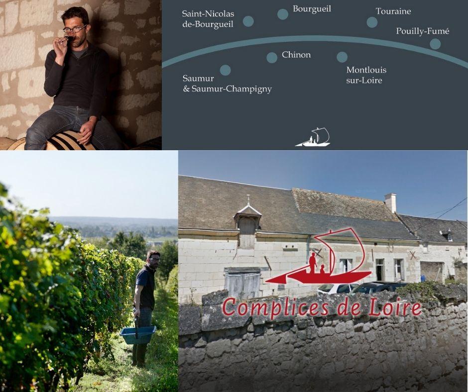 Complices de Loire: François-Xavier Barc, carte viticole, vignobles et chai