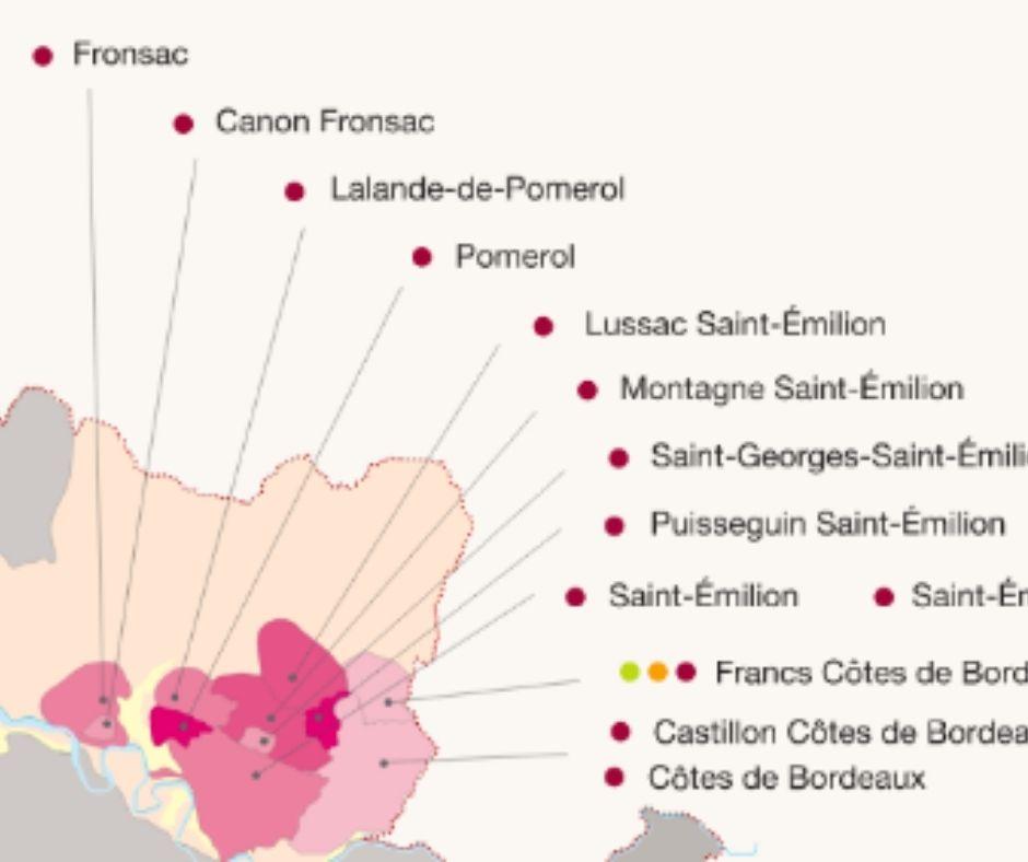 Carte viticole de Fronsac