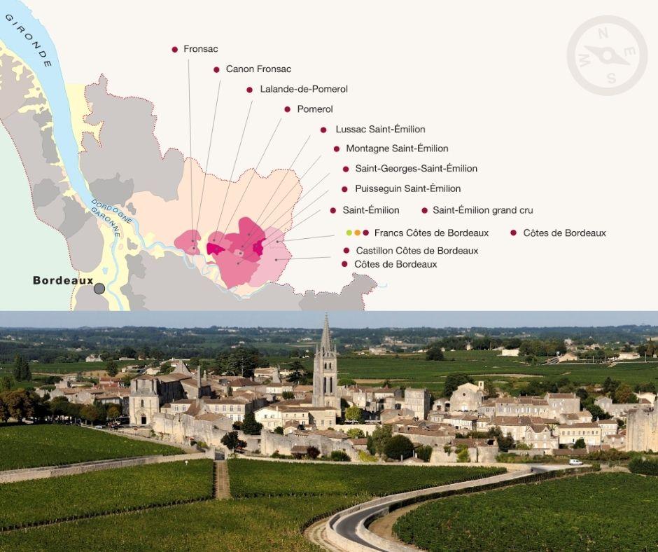 Carte viticole du Libournais