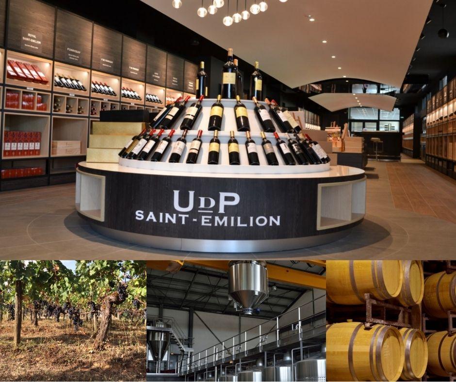 Union de producteurs de Saint-Émilion, chai, vignoble